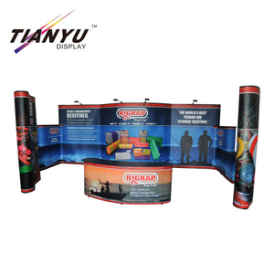 Murah 10ft Portabel Iklan Lipat Pop up Backdrop Banner Tampilan