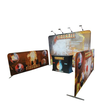 Fabric Portabel Aluminium Banner berdiri Pernikahan Ketegangan Photo Booth Backdrop